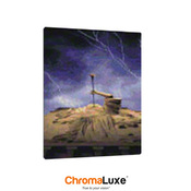 "ChromaLuxe Gloss White Sublimation Aluminum Photo Panel, 8"" X 10"" X .045"", with 1/8"" rounded corners"
