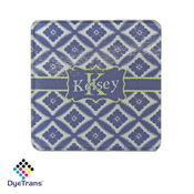 "Square DyeTrans Glass Coaster, with White Sublimation Backing, 3.93"" x 3.93"" x .16"". Tempered Textur"